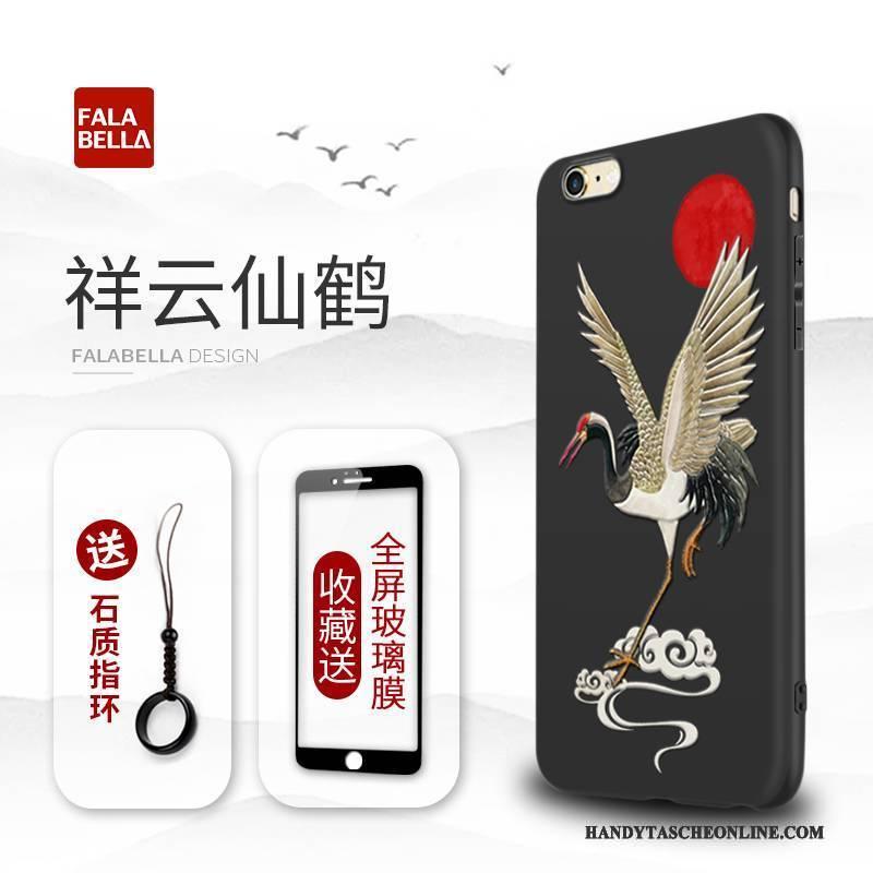 Hülle iPhone 6/6s Plus Kreativ Trend Schwarz, Case iPhone 6/6s Plus Silikon Handyhüllen Persönlichkeit