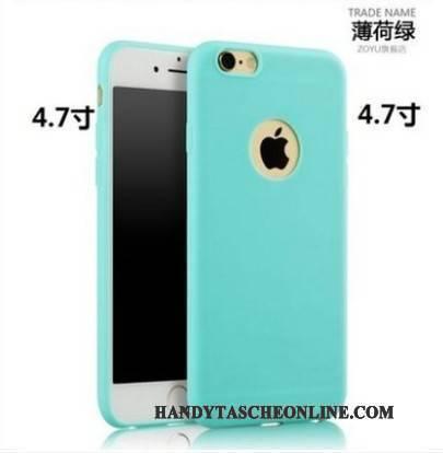 Hülle iPhone 6/6s Silikon Nubuck Schlank, Case iPhone 6/6s Schutz Handyhüllen Rot