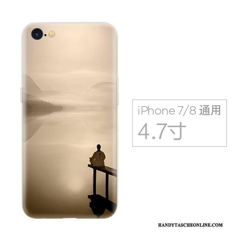 Hülle iPhone 7 Kreativ Chinesische Art Anti-sturz, Case iPhone 7 Silikon Handyhüllen Persönlichkeit
