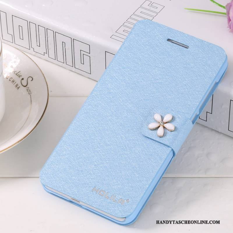 Hülle iPhone 7 Plus Lederhülle Blau Handyhüllen, Case iPhone 7 Plus Folio