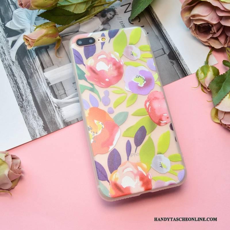 Hülle iPhone 7 Weiche Nubuck Handyhüllen, Case iPhone 7 Silikon Transparent Rosa