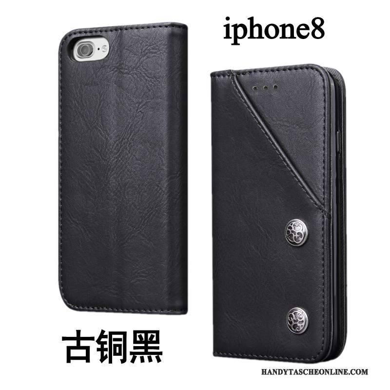 Hülle iPhone 8 Lederhülle Handyhüllen Anti-sturz, Case iPhone 8 Silikon