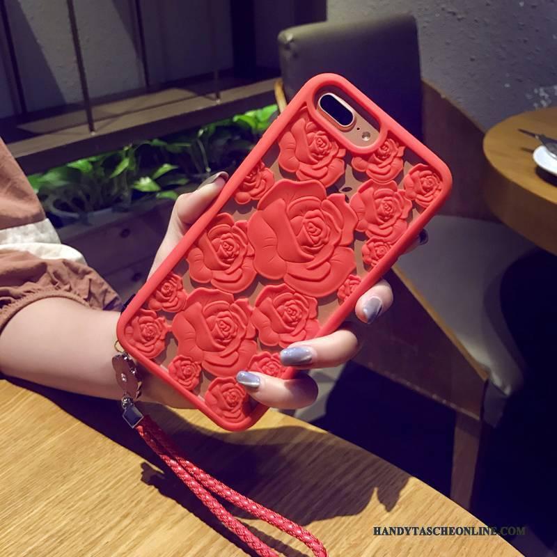 Hülle iPhone 8 Plus Taschen Anti-sturz Nubuck, Case iPhone 8 Plus Silikon Schwarz Handyhüllen