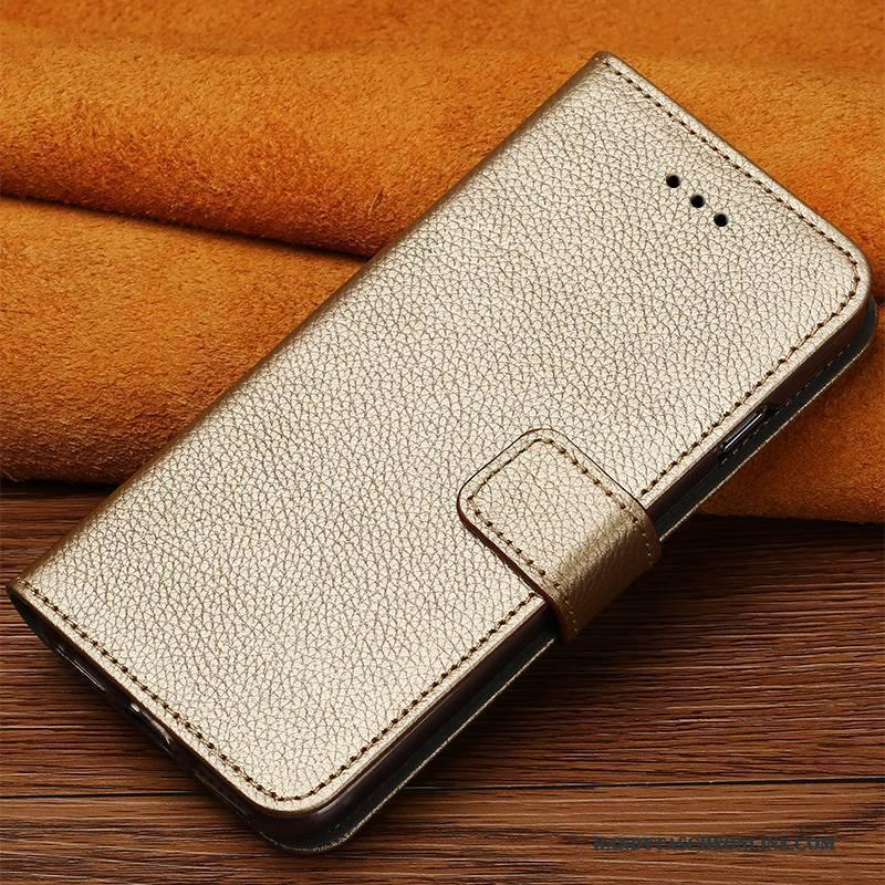 Hülle iPhone X Lederhülle Elegant Trendmarke, Case iPhone X Taschen Licht Handyhüllen