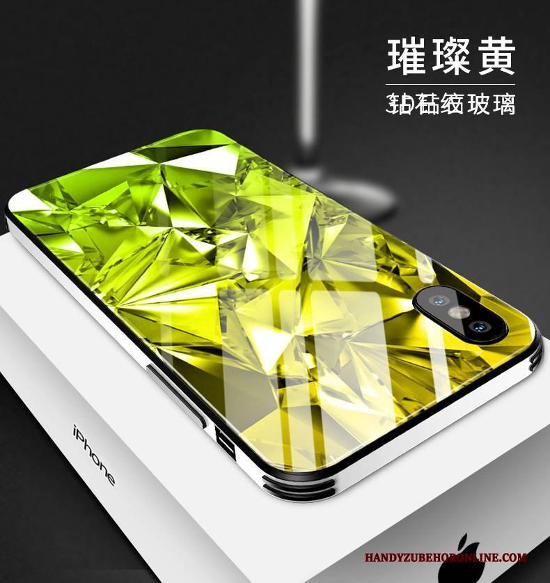 Hülle iPhone Xs Max Mode Glas High-end, Case iPhone Xs Max Kreativ Handyhüllen Rot
