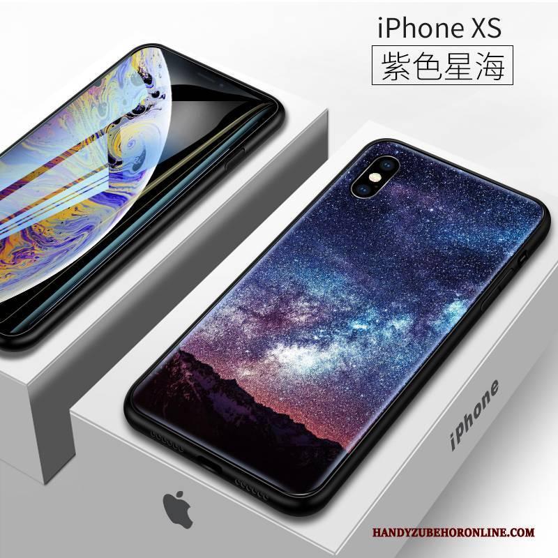 Hülle iPhone Xs Taschen Trendmarke Trend, Case iPhone Xs Schutz Lila Schlank