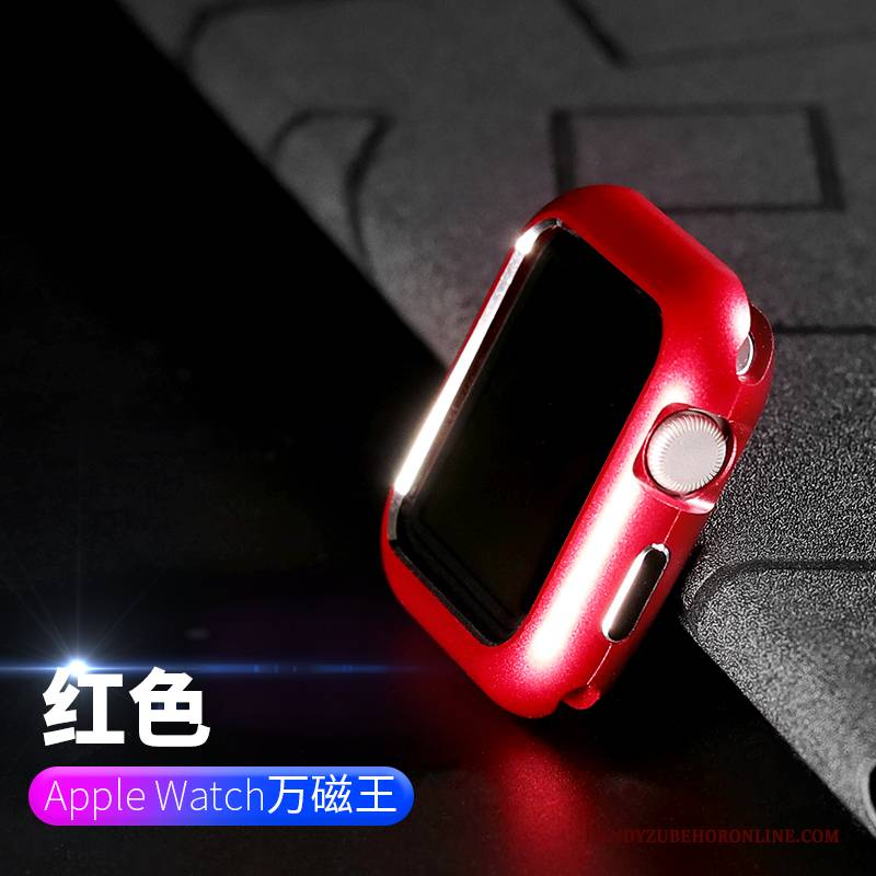 Hülle Apple Watch Series 2 Metall Überzug Anti-sturz, Case Apple Watch Series 2 Taschen Grenze Rot