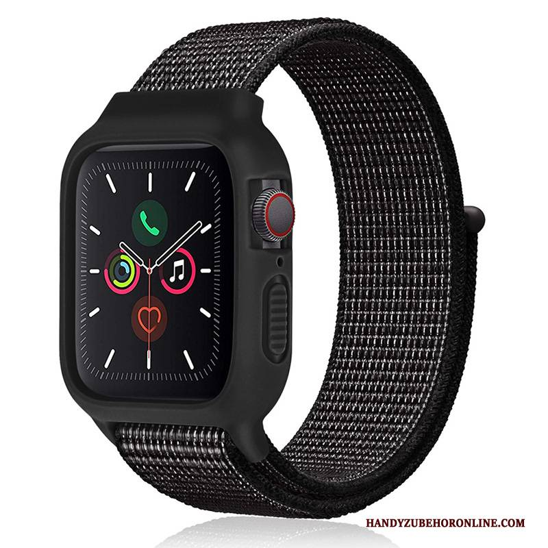 Hülle Apple Watch Series 2 Silikon Nylon Trend, Case Apple Watch Series 2 Neu Schwarz