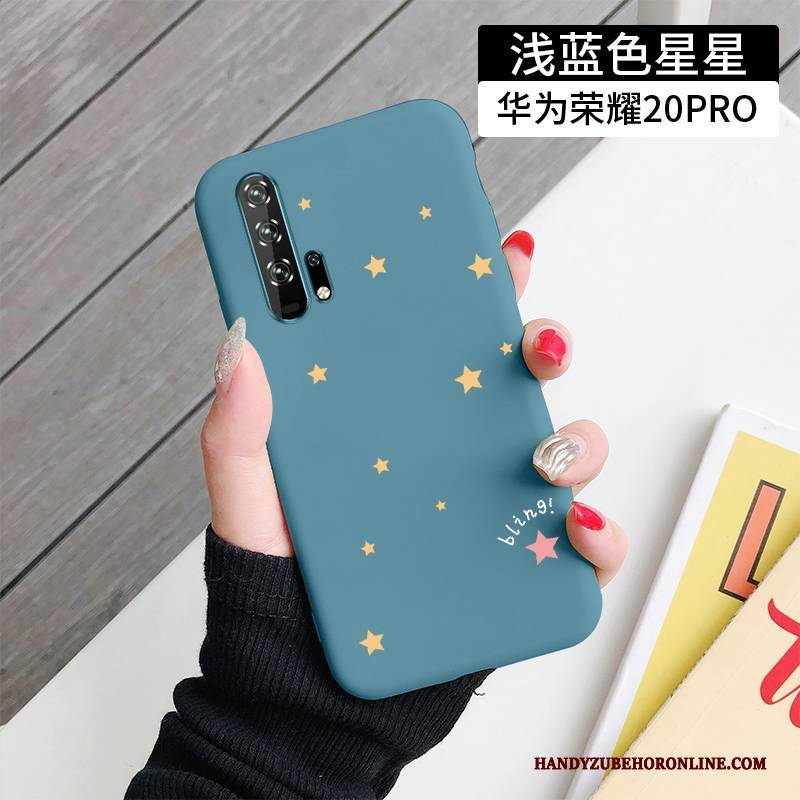 Hülle Honor 20 Pro Kreativ Blau Anti-sturz, Case Honor 20 Pro Mode Schlank Einfach