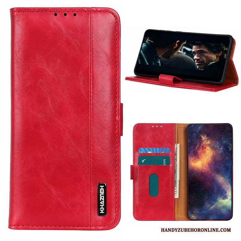 Hülle Honor 30 Leder Handyhüllen Rot, Case Honor 30 Taschen High-end