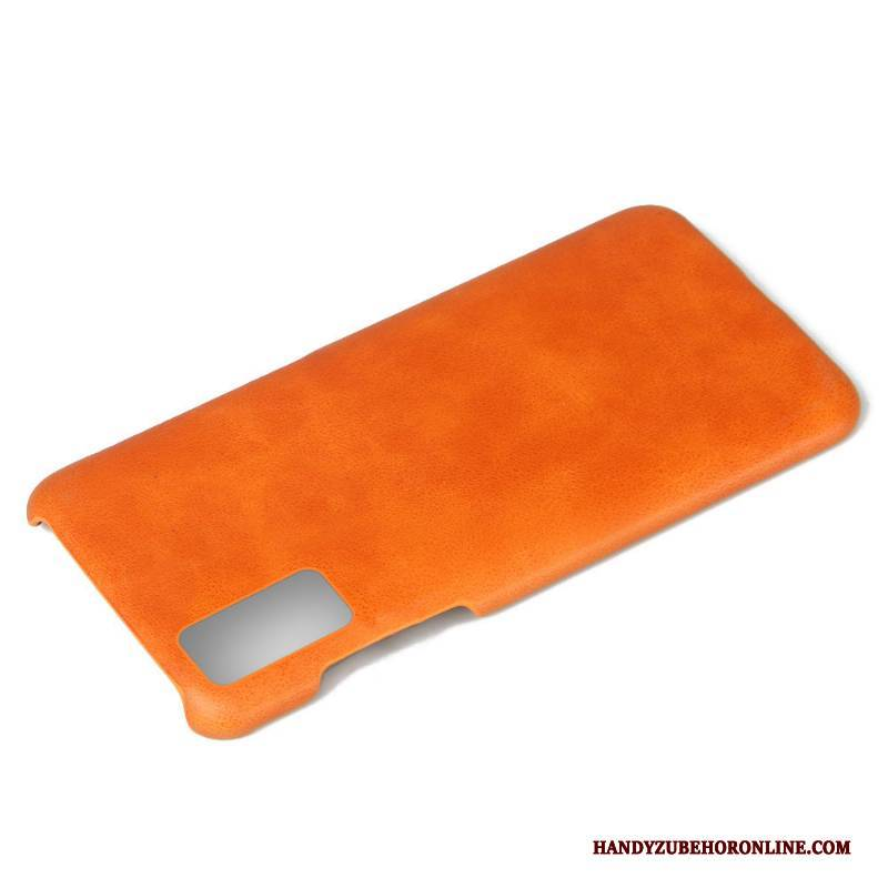 Hülle Honor 30 Schutz Business Anti-sturz, Case Honor 30 Leder Orange Trend