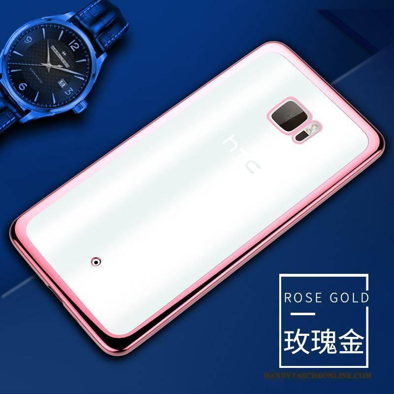 Hülle Htc U Ultra Silikon Transparent Rosa, Case Htc U Ultra Weiche Handyhüllen
