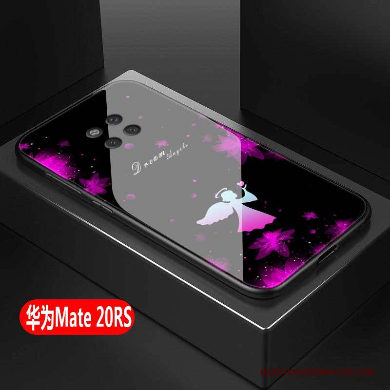 Hülle Huawei Mate 20 Rs Kreativ Glas Trend, Case Huawei Mate 20 Rs Schutz Anti-sturz Rosa