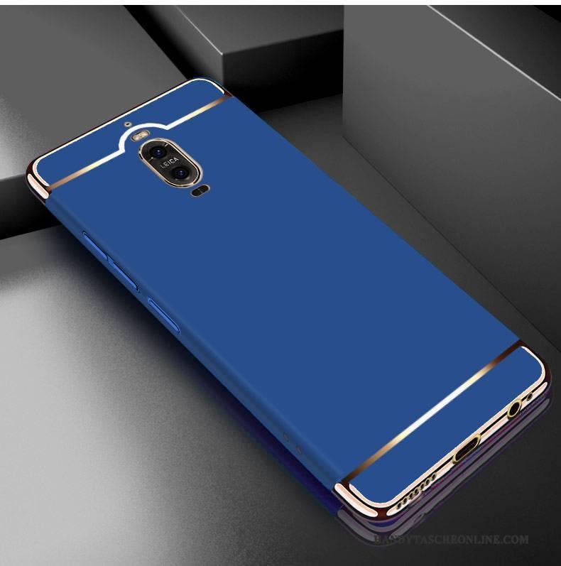 Hülle Huawei Mate 9 Pro Kreativ Persönlichkeit Blau, Case Huawei Mate 9 Pro Metall Grenze