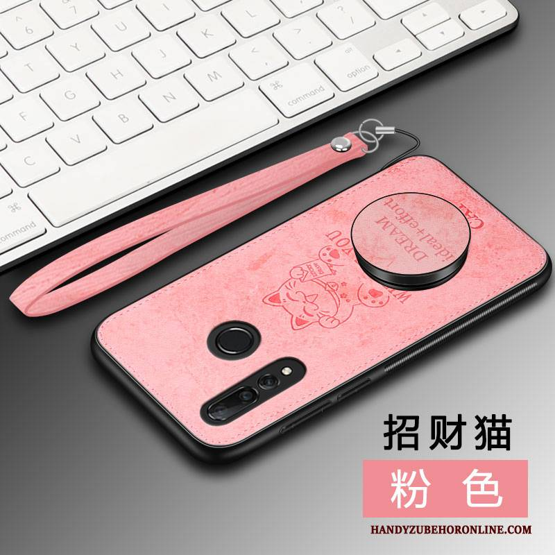 Hülle Huawei P Smart+ 2019 Silikon Membran Rosa, Case Huawei P Smart+ 2019 Schutz Business Wind