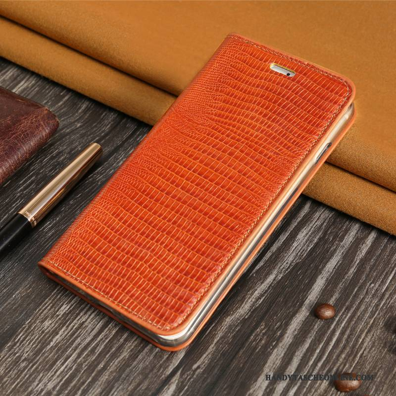 Hülle Huawei P10 Lite Folio Business Karte, Case Huawei P10 Lite Leder Schwer Orange