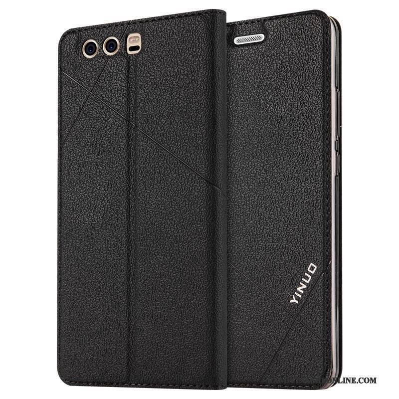 Hülle Huawei P10 Plus Taschen Anti-sturz Schwarz, Case Huawei P10 Plus Folio Handyhüllen