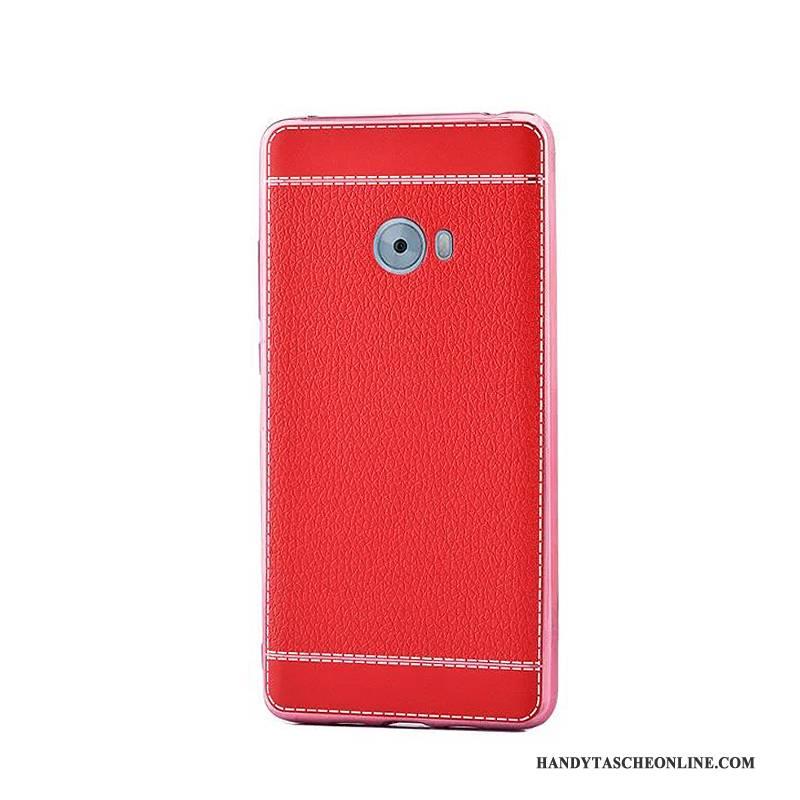 Hülle Mi Note 2 Leder Rot Überzug, Case Mi Note 2 Weiche Trend Mini