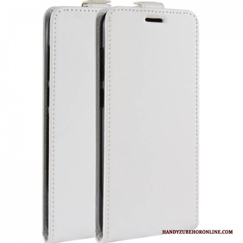 Hülle Moto G7 Plus Lederhülle Weiß Muster, Case Moto G7 Plus Schutz Handyhüllen