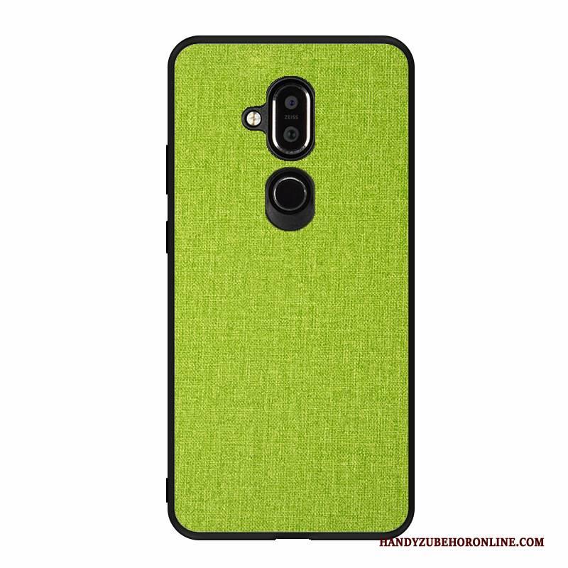 Hülle Nokia 8.1 Weiche Neu Handyhüllen, Case Nokia 8.1 Schutz Grün Schwer