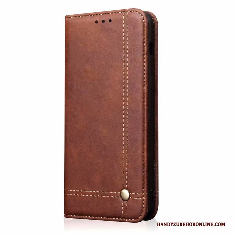 Hülle Redmi Note 8t Folio Rot Temperieren, Case Redmi Note 8t Leder Membran Business