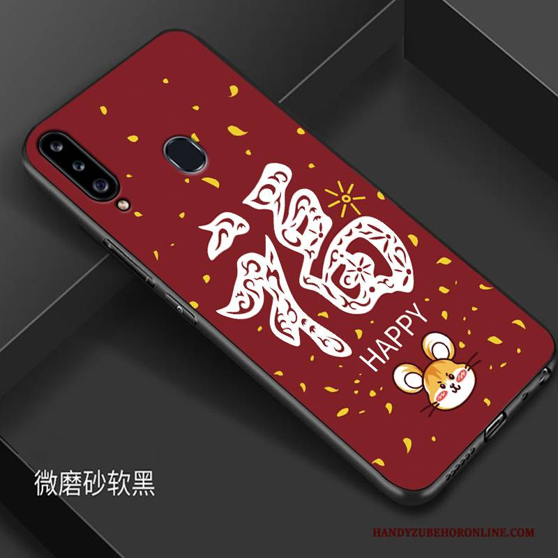 Hülle Samsung Galaxy A20s Silikon Ratte Rot, Case Samsung Galaxy A20s Kreativ Neu Handyhüllen