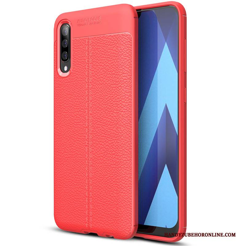 Hülle Samsung Galaxy A30s Silikon Muster Rot, Case Samsung Galaxy A30s Leder Handyhüllen
