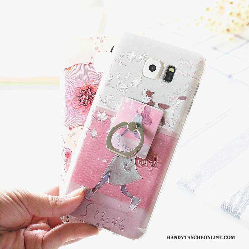 Hülle Samsung Galaxy Note 5 Silikon Ring Handyhüllen, Case Samsung Galaxy Note 5 Taschen Rosa Anti-sturz