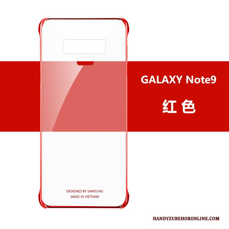 Hülle Samsung Galaxy Note 9 Rot Schlank, Case Samsung Galaxy Note 9 Anti-sturz Transparent