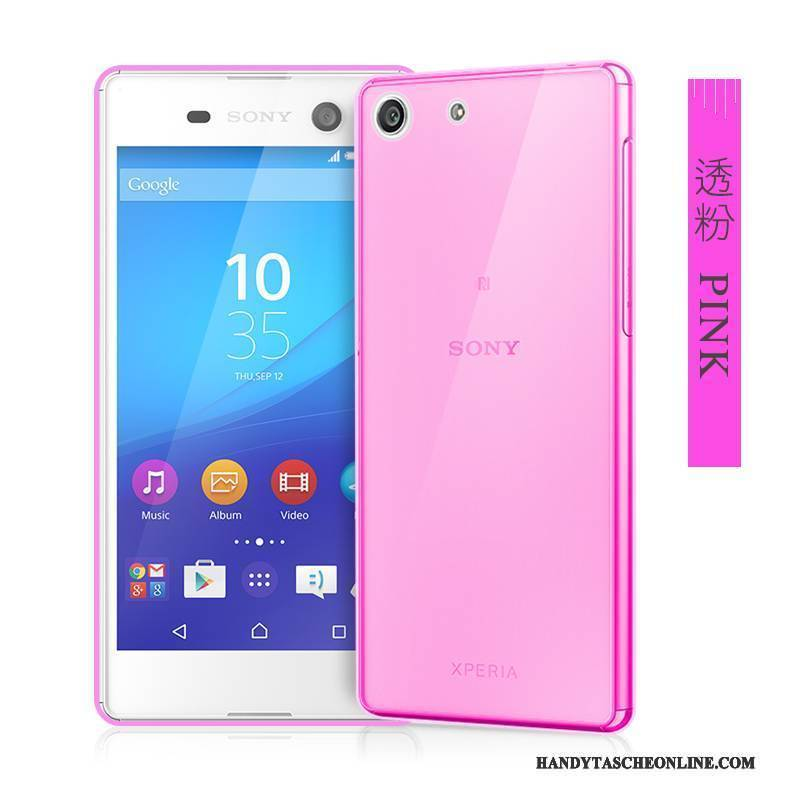 Hülle Sony Xperia M5 Dual Silikon Handyhüllen Groß, Case Sony Xperia M5 Dual Weiche Transparent Rosa
