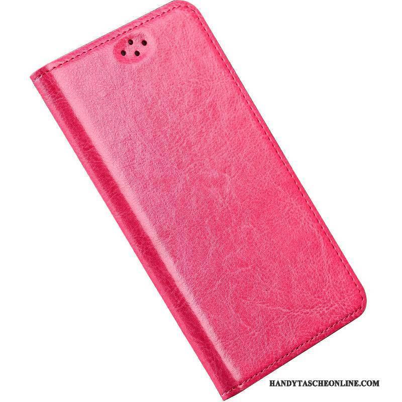 Hülle Sony Xperia T2 Luxus Rot Anti-sturz, Case Sony Xperia T2 Lederhülle Einfach Handyhüllen