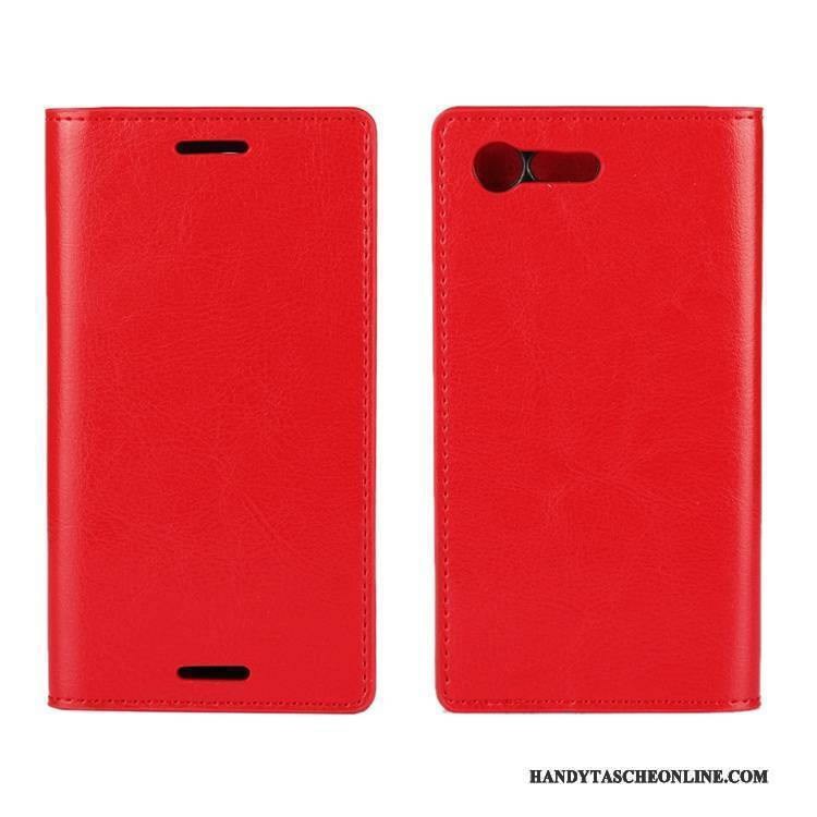 Hülle Sony Xperia X Compact Taschen Anti-sturz Schwer, Case Sony Xperia X Compact Schutz Handyhüllen Rot