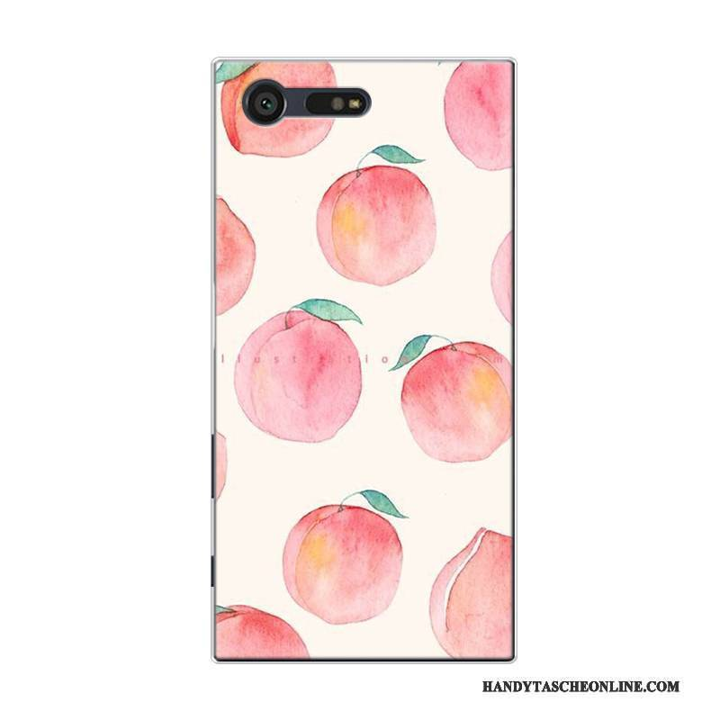 Hülle Sony Xperia X Compact Taschen Handyhüllen Frisch, Case Sony Xperia X Compact Silikon Frucht Rosa
