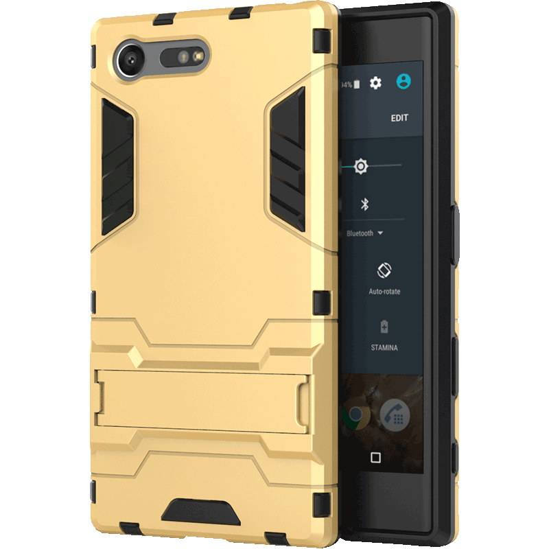 Hülle Sony Xperia X Compact Weiche Handyhüllen Schwer, Case Sony Xperia X Compact Schutz Gold Anti-sturz