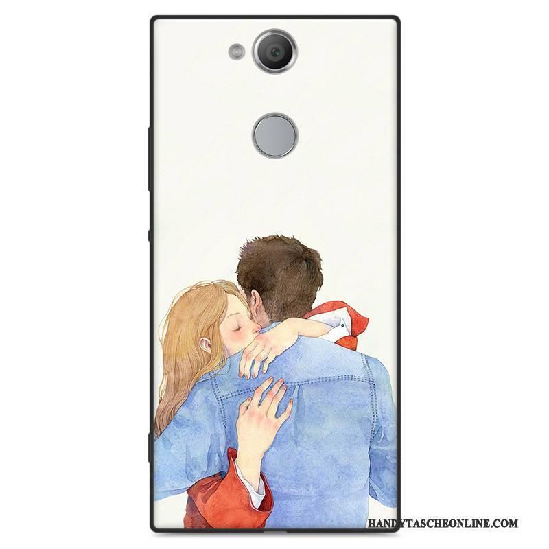 Hülle Sony Xperia Xa2 Weiche Kunst Handyhüllen, Case Sony Xperia Xa2 Taschen Hellblau Nubuck