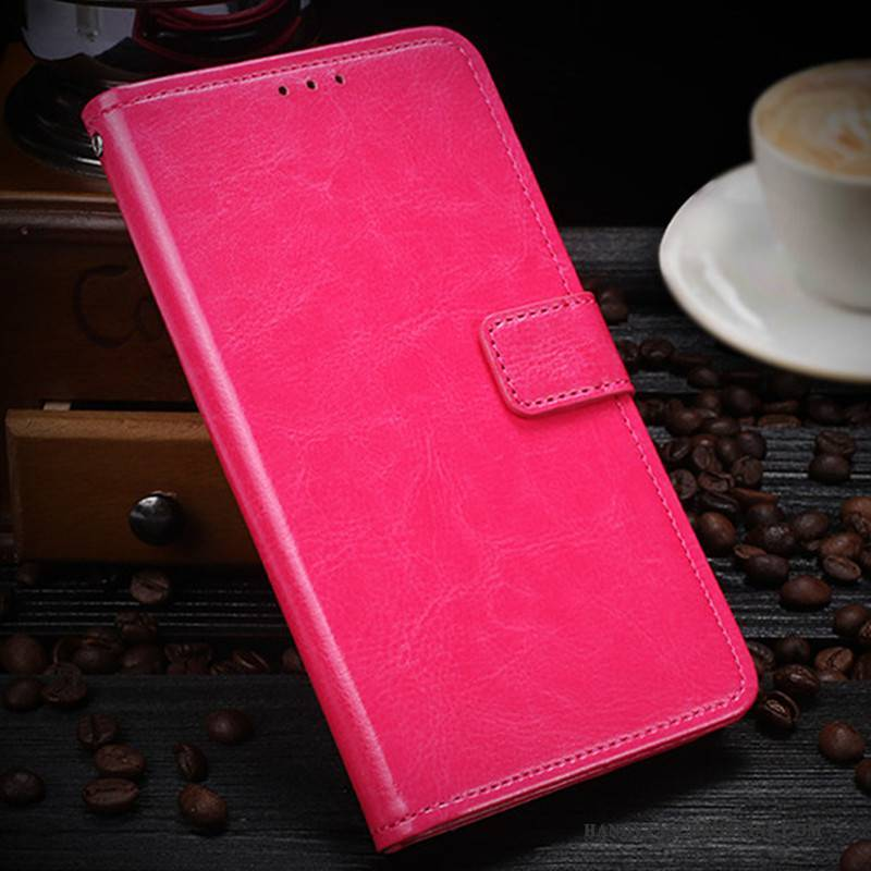 Hülle Sony Xperia Xz1 Compact Folio Rot, Case Sony Xperia Xz1 Compact Lederhülle