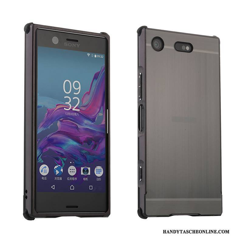 Hülle Sony Xperia Xz1 Compact Metall Handyhüllen Dunkel, Case Sony Xperia Xz1 Compact Schutz Grau Grenze