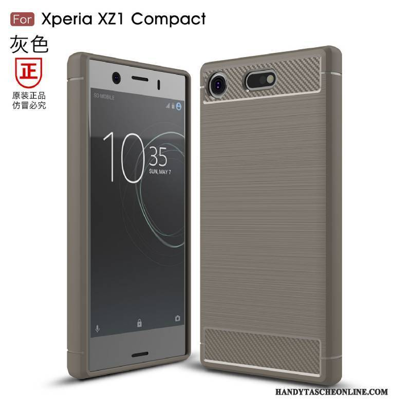 Hülle Sony Xperia Xz1 Compact Taschen Anti-sturz Handyhüllen, Case Sony Xperia Xz1 Compact Weiche Faser Lichtfarbe
