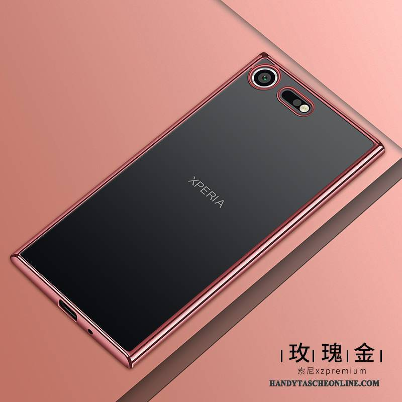 Hülle Sony Xperia Xz1 Compact Weiche Handyhüllen Transparent, Case Sony Xperia Xz1 Compact Schutz Rosa