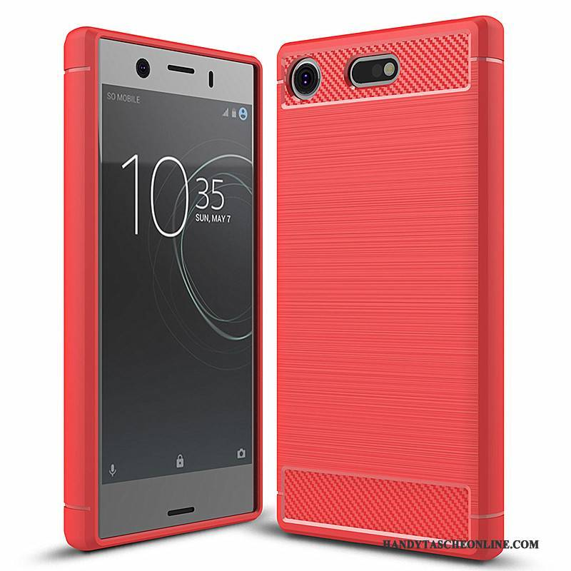Hülle Sony Xperia Xz1 Compact Weiche Trend Handyhüllen, Case Sony Xperia Xz1 Compact Silikon Rot