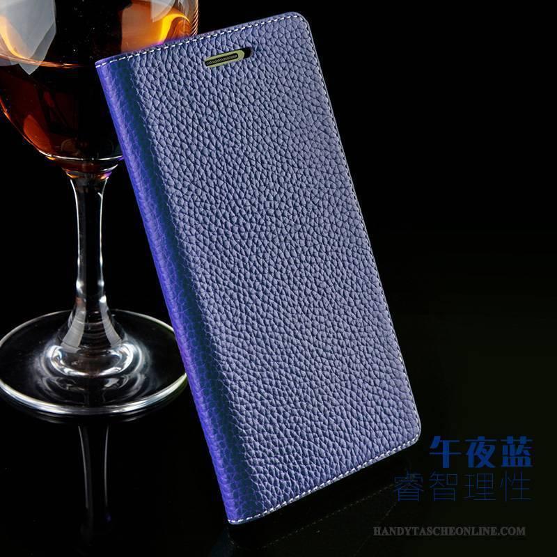 Hülle Sony Xperia Z2 Leder Blau Handyhüllen, Case Sony Xperia Z2 Lederhülle