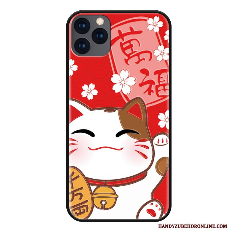 Hülle iPhone 11 Pro Max Karikatur Rot Reichtum, Case iPhone 11 Pro Max Silikon Groß Nette