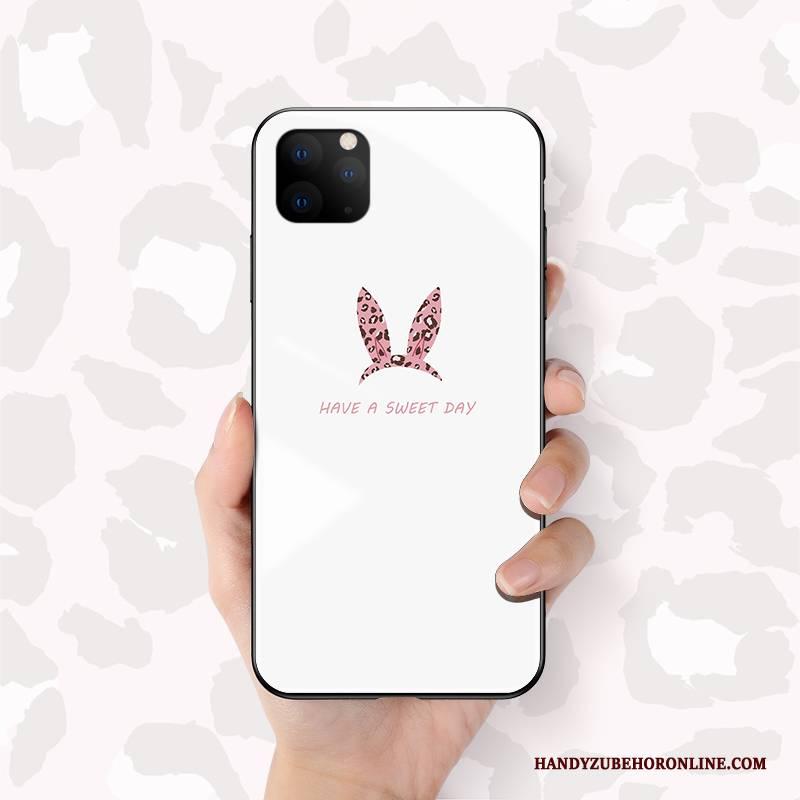 Hülle iPhone 11 Pro Schutz Weiß Netto Rot, Case iPhone 11 Pro Mode Hängende Verzierungen Neu