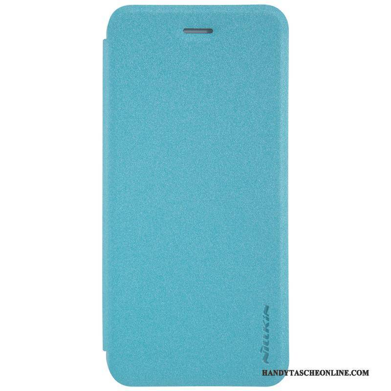 Hülle iPhone 8 Lederhülle Anti-sturz Blau, Case iPhone 8 Folio Handyhüllen