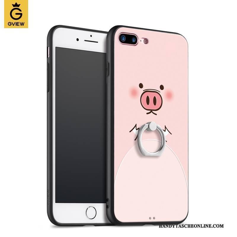 Hülle iPhone 8 Plus Silikon Handyhüllen Trendmarke, Case iPhone 8 Plus Ring Hängende Verzierungen