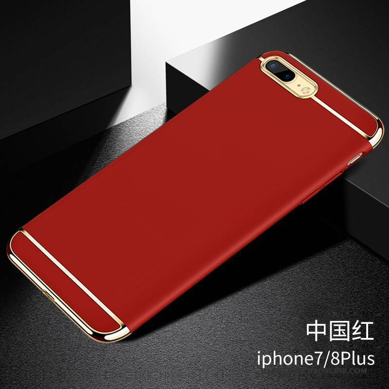 Hülle iPhone 8 Plus Taschen Nubuck Rot, Case iPhone 8 Plus Anti-sturz Schwer