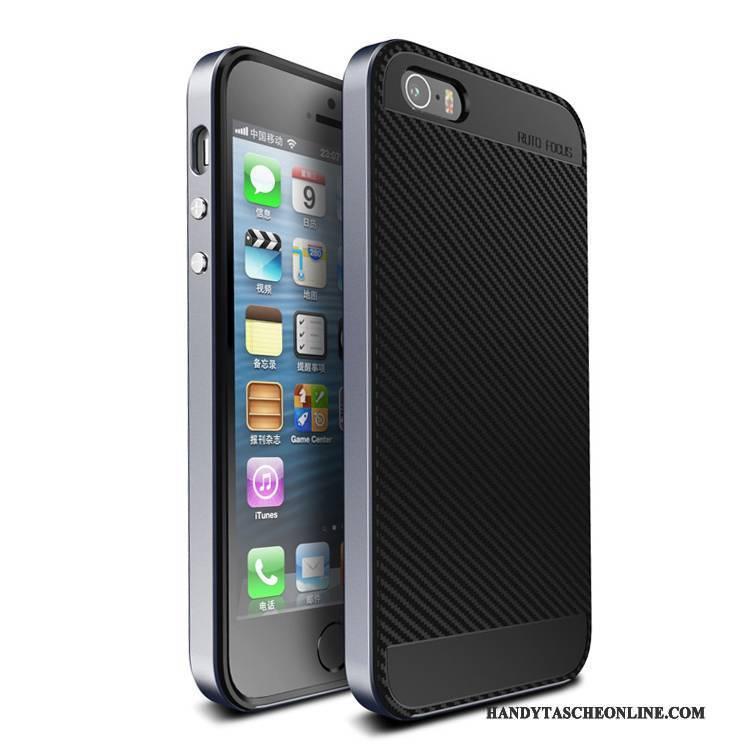 Hülle iPhone Se Taschen Trend Schwarz, Case iPhone Se Kreativ Anti-sturz Nubuck